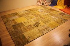 Overdyed Rug Patchwork Vintage Anatolian by AnatolianSpindle