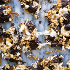 This loaded Circus Bark is made with graham crackers, pretzels, peanuts, toffee, popcorn, chocolate, and toasted marshmallows!