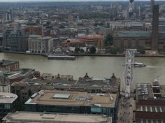 Shakespeare's Globe and the Millennium Bridge from St. Pauls