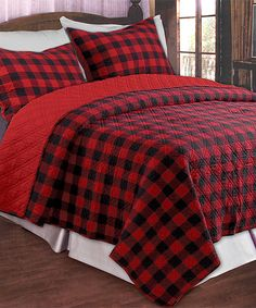 Red Western Plaid Quilt Set | Something special every day