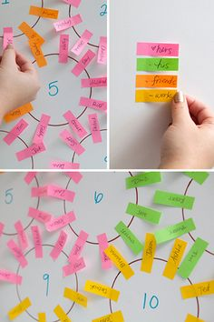 Make your wedding planning less stressful by using page markers to organize your seating chart.