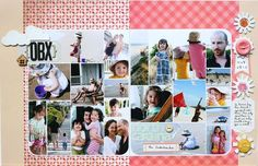 love this multi-photo, photo-collage, 2-page layout! #scrapbooking #layout