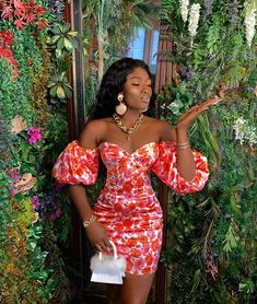 Short African Dresses, Latest African Fashion Dresses, African Print Fashion, Fashion Prints, Nigerian Fashion, Floral Fashion, Classy Dress, Classy Outfits, Chic Outfits