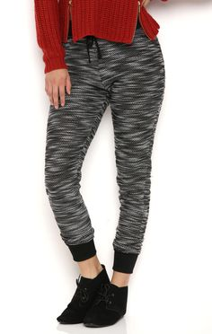 Deb Shops Knit Jogger Pants with Ribbed Waistband and Cuffs $14.40
