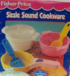 "Fisher-Price ""Sizzle Sound Cookware"" (#2141) Fisher Price Toys, Vintage Fisher Price, Childhood Toys, Childhood Memories, Antique Toys, Vintage Toys, Weird Toys, I Have A Secret, Cartoon Toys"