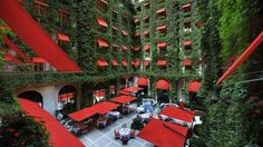Hotel Plaza Athenee in Paris France. What an incredible courtyard vertical garden display! The front of the hotel is even better! Paris Hotels, Hotel Paris, Paris City, Hotel Plaza, Hotel Restaurant, Oh The Places You'll Go, Places To Travel, Places To Visit, Palaces