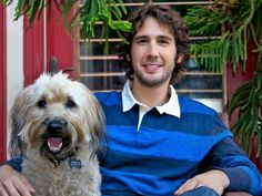 Josh Groban...and his dog, Sweeney !!