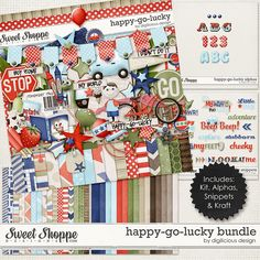 {Happy Go Lucky} Digital Scrapbook Bundle available at Sweet Shoppe Designs http://www.sweetshoppedesigns.com/sweetshoppe/product.php?productid=29796&cat=686&page=7 #digiscrap #digitalscrapbooking #digiliciousdesign