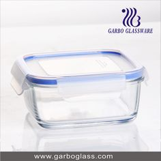 Transparent glass bowl with lid for food using