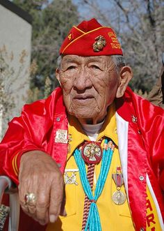 "World War II ""Windtalker"" - Dan Akee, a Navajo Code Talker of the Diné Nation. He served with the Marine Regiment, Marine Division from as a Navajo Code Talker. Sergeant Major Dan Akee also served at Iwo Jima, Saipan and Tinan, Marshall Islands. Native American History, Native American Indians, Code Talker, Cthulhu, Native Indian, Indian Tribes, Before Us, First Nations, Military History"