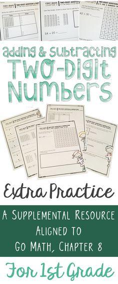 Go Math First Grade Bundle Common Core Standards Core Standards