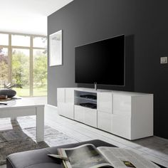 Flat Screen, Furniture, Tv Rack, Home Decor, Products, Tv Bench, Tall Sideboard, White People, Welcome