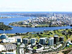 View of Casino & City from Burswood, Perth, Western Australia