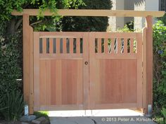 Asian Fusion Style Driveway Gate - West Los Angeles, CA