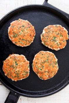 Salmon Burgers with Quick Pickled Cucumbers from weelicious.com #recipe #healthy
