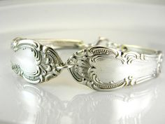 Antique silverware bracelet