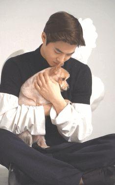 #Vyrl x #WKorea 'Oh My Pet!' - #수호 #별이  매거진 W Korea 5월호에서 SM아티스트와 반