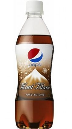 Now that Summer is over, it's time for Pepsi Japan to unveil their newest Autumn/Winter drink. Coming out on October is Pepsi Mont-Blanc – which will have a chestnuty flavor to it. Coca Cola, Drinks Logo, Fun Drinks, Beverages, Summer Drinks, Cola Wars, Diet Pepsi, Japanese Snacks, Japanese Sweets