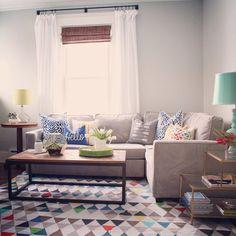 Living Room. via Inspired by Charm on Instagram: www.instagram.com/inspiredbycharm