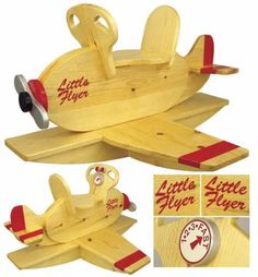 This is your woodworking search result for AIRPLANE ROCKER woodworking plans and information at WoodworkersWorkshop® Woodworking For Kids, Router Woodworking, Woodworking Patterns, Woodworking Projects Plans, Rocking Chair Plans, Rocking Chairs, Wooden Airplane, Wooden Crafts, Wood Toys