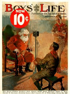"""Boys' Life - Christmas Pictures with Santa """"Protecting our boys' Christian moral values and masculine gender identity from today's 'gender confusion' agenda. Xmas Photos, Christmas Pictures, Boys Life Magazine, Life Cover, Santa Pictures, Vintage Boys, Vintage Magazines, Happy Kids, Vintage Cards"""