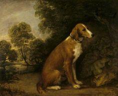 A Setter in a Landscape, Thomas Gainsborough, 1774. National Trust