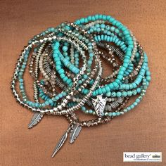 DIY Turquoise Sunset Bracelets made with #BeadGallery beads available at @michaelsstores #madewithmichaels