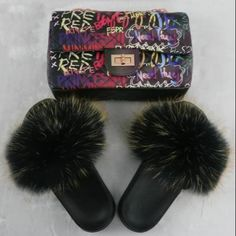 Ready Stock Graffiti Black Jelly Purse Bag & Fur Slide Set F736 DM for wholesale price 😍#wholesale #sample #customized #logo  💝No Moq  🔥No licensed needed 💰Support PayPal and credit card  💃We also have Dresses, Tops, Pants & Accessories.☑ Get Yours!  #wholesale #vendor #wholesalefurslides #furslippers #clothingvendor 💝Customized logo just 10pcs to start Fur Sliders, Couple Items, The Body Book, Wholesale Purses, Red Fur, Jelly Bag, Snake Patterns, Purses For Sale, Stripes Fashion