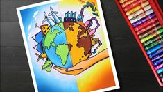 Nature Is Our Future Drawing and How To Draw Energy Conservation Drawing And Painting Global Warming Drawing, Global Warming Poster, Save Earth Drawing, Nature Drawing, Energy Conservation Poster, Save Water Poster Drawing, Air Pollution Poster, Save Earth Posters, Environment Painting