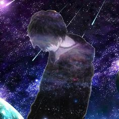 Star lost boy in space of space