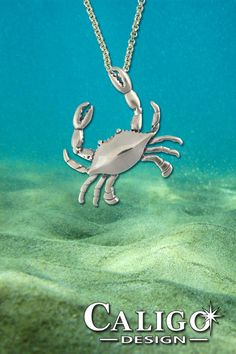 Crab Necklace Sterling Silver Crab Jewelry Beach Jewelry | Etsy Ocean Jewelry, Nautical Jewelry, Summer Jewelry, Beach Jewelry, Sea Crab, Sea Creatures, Necklace Lengths, Sterling Silver Jewelry, Crabs