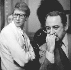 Yves Saint Laurent et Pierre Bergé en 1977
