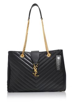 eb5ff5f320c1 -Yves Saint Laurent- Classic Monogram Shopping Bag Smooth  YSL  Handbags