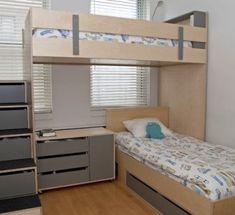 L Shaped Loft Bunk Beds - Foter                                                                                                                                                                                 More