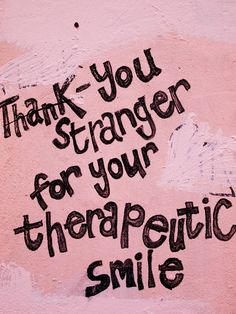 Your mission for today: smile at strangers!
