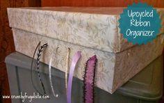 Crafts Ucycled Ribbon Organizer DIY