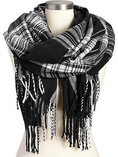 Womens Plaid Flannel Scarves  $15