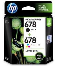HP 678 Black and Tricolor Ink Combo Pack Rs.775(22%Off) At Snapdeal