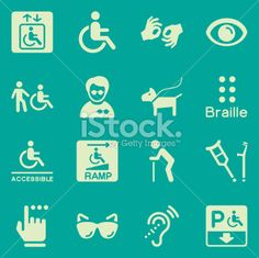 Vector File of Disability Icons - Background related vector icons for your design or application. Raw style. Files included: vector EPS, JPG, PNG. See more in this series.