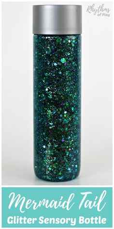 Learn how to make your own glittering mermaid tail sensory bottle! Calm down discovery jars like this glitter sensory bottle can be used for portable no mess safe sensory play, calming an overwhelmed child, and helping children learn to self-regulate. Sensory Bins, Sensory Activities, Sensory Play, Activities For Kids, Crafts For Kids, Sensory Bottles For Toddlers, Adult Crafts, Summer Crafts, Calm Down Jar