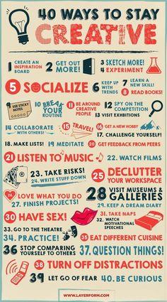 40 Ways to Be Creative