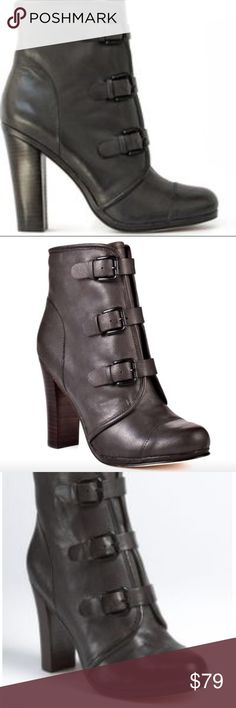 Plenty by Tracy Reese Emma buckle bootie Plenty by Tracy Reese Emma buckle bootie in grey leather gently used some slight scuffs but tons life left will post additional pics shortly Tracy Reese Shoes Ankle Boots & Booties