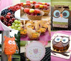Owl theme birthday party for Maddi's 2nd birthday...