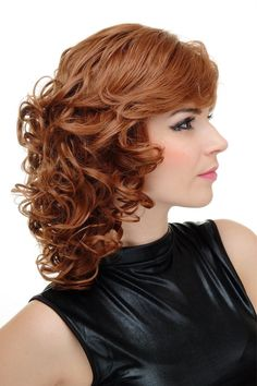 Locken Kupferbraun Haarfarbe
