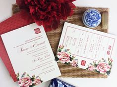 Chinese theme wedding invitation | This is amazing! Head over to Nineteen Design Studio where you can see more of their unique works http://www.bridestory.com.sg/nineteen-design-studio/instagram