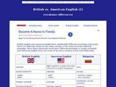 British vs. American Vocabulary Differences