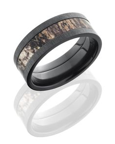 Zirconium and Camo band with satin finished edge