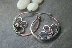 50% off Tutorial Sale-Tutorial for Rustic Daisy Hoop Earrings. via Etsy