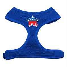 Republican Screen Print Soft Mesh Harness Blue Medium