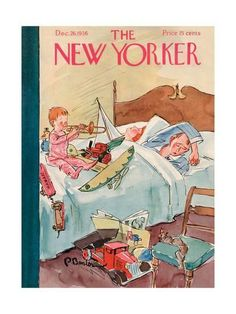 The New Yorker Cover - December 1936 Poster Print by Perry Barlow at the Condé Nast Collection The New Yorker, New Yorker Covers, Capas New Yorker, Journal Vintage, Christmas Cover, Christmas Toys, Vintage Christmas, Magazine Art, Magazine Covers